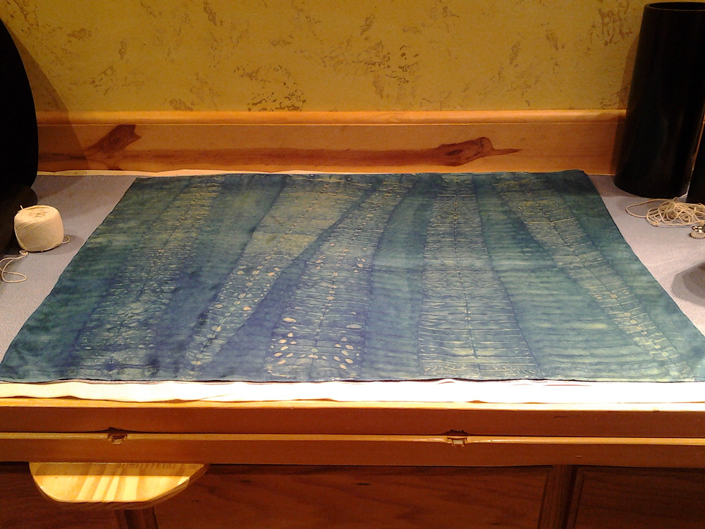 Shibori experiment in creating dimension and space