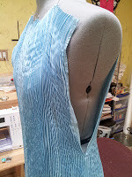 Shibori gown panel