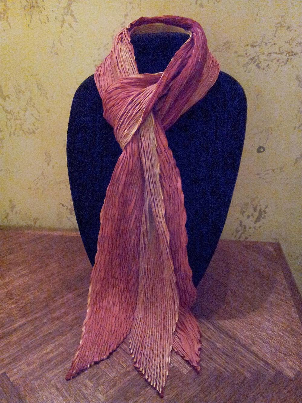 Shibori mystery scarf