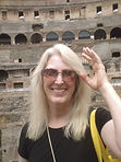 Alice Manchester at the Colosseum in Italy in 2010