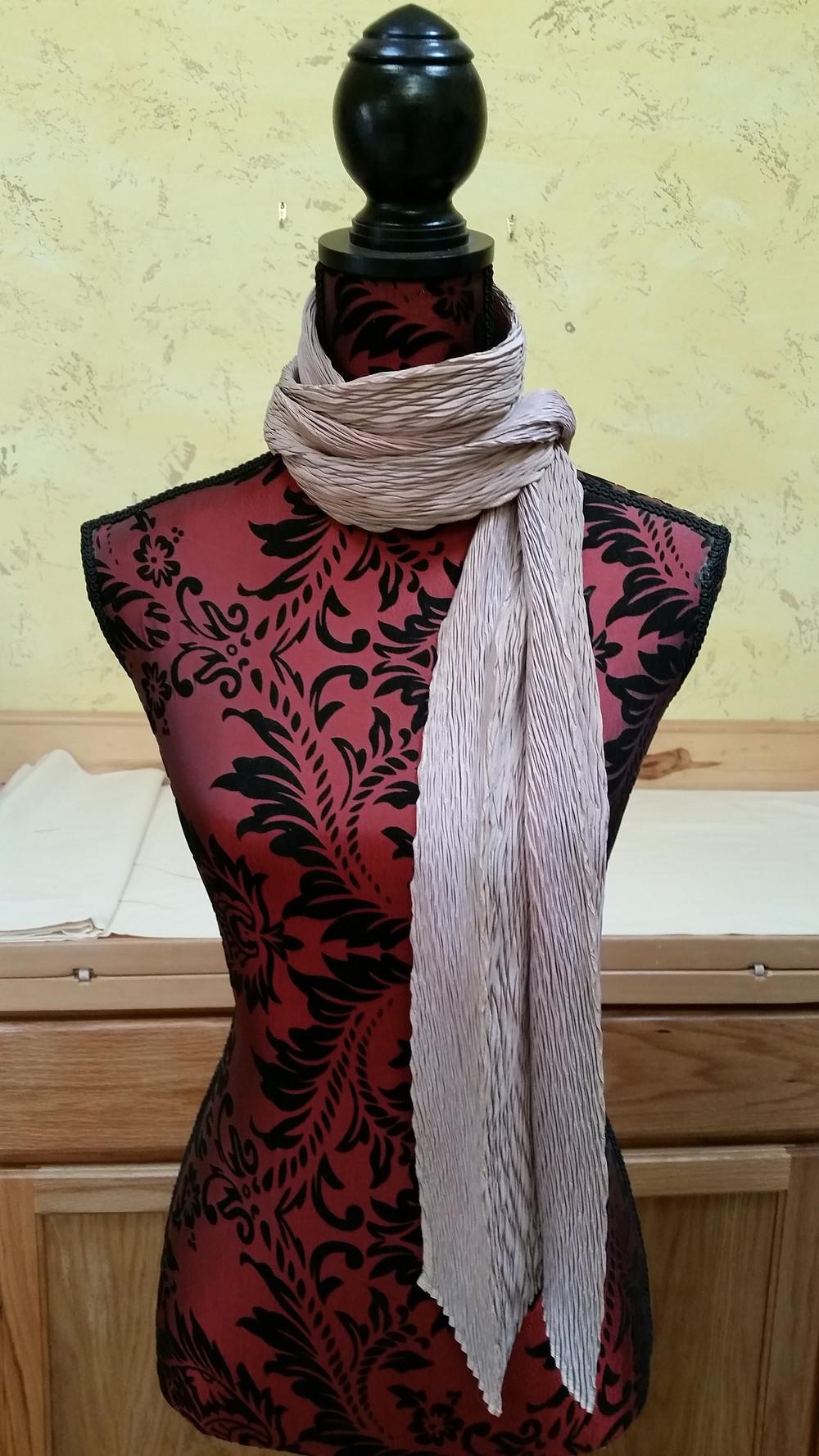 Driftwood shibori scarf