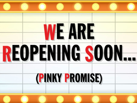 Yippee we can official reopen our doors on 12th April!