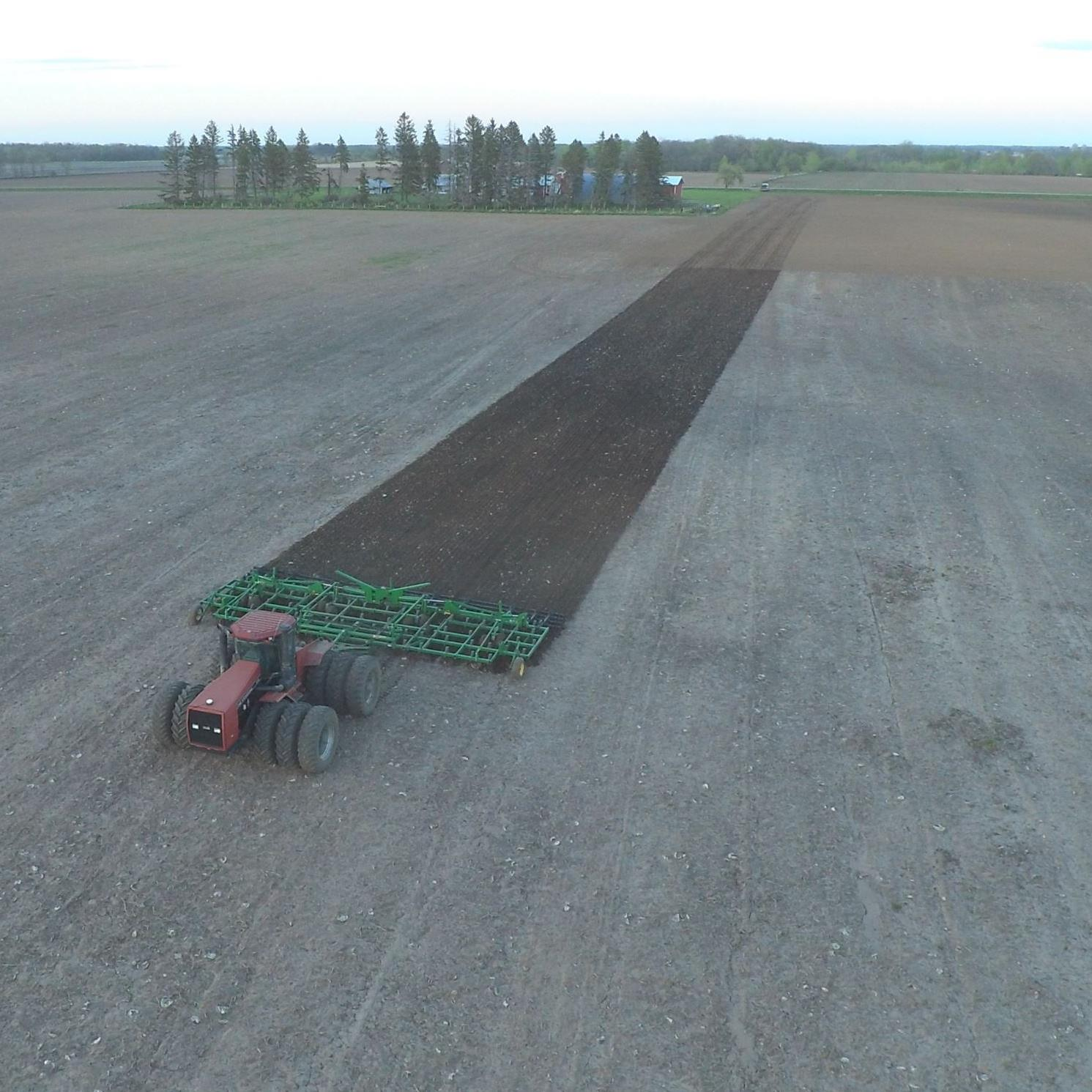 Tilling from above