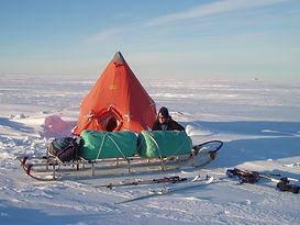 Rhian and Nansen sledge.JPG