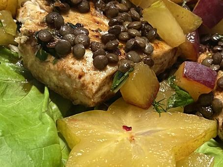 Easy Mahi-Mahi with a Tropical Lentil Salsa