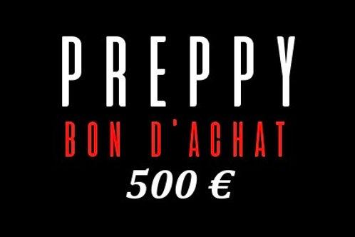 Bon d'achat 500 €