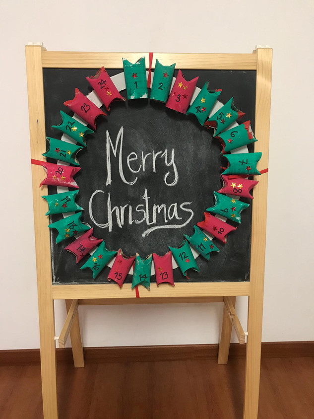 Our handmade advent calendar.jpeg
