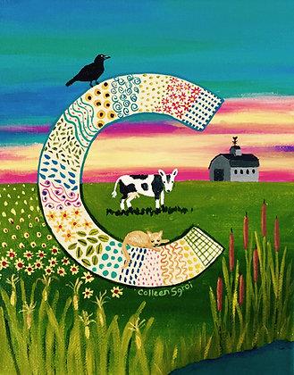 Folk Art Alphabet - C