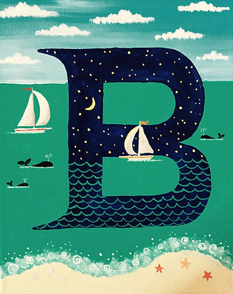 Folk Art Alphabet - B