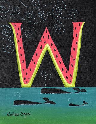 Folk Art Alphabet - W