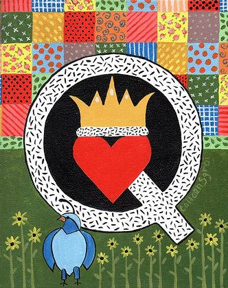 Folk Art Alphabet - Q