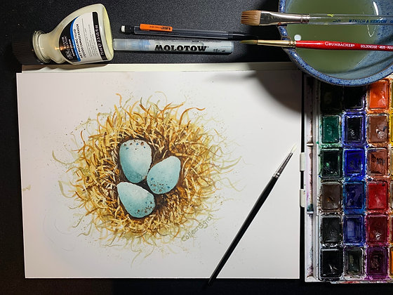 How to Use Masking Fluid in Watercolors