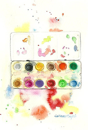 April Online Watercolor Classes