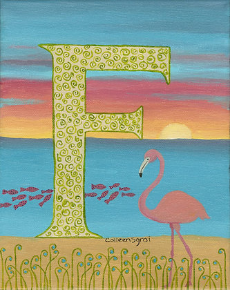 Folk Art Alphabet - F