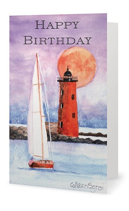 Love and Light Birthday Card