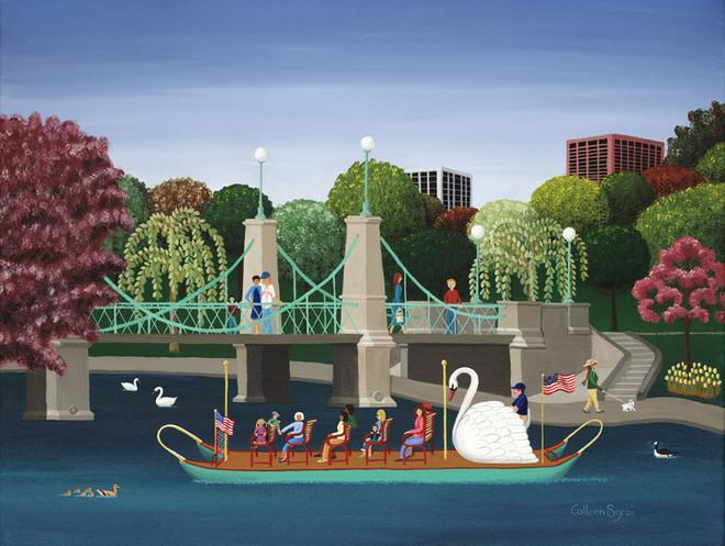 "Colleen's ""Boston Swan"" poster Showing in Washington DC"