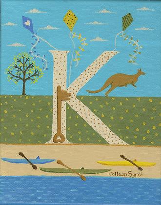 Folk Art Alphabet - K