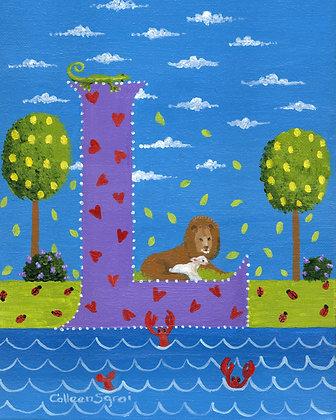 Folk Art Alphabet - L