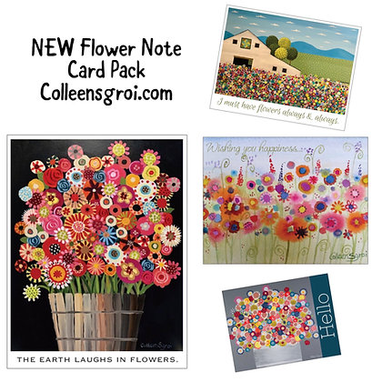 Flower Note Card Pack