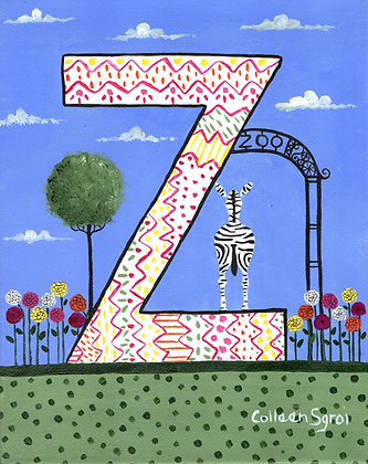 Folk Art Alphabet - Z