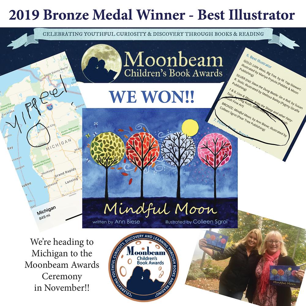Best Illustrator - 2019 Moonbeam  Bronze Medal  Award
