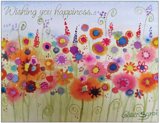 Wishing you happiness Note Card