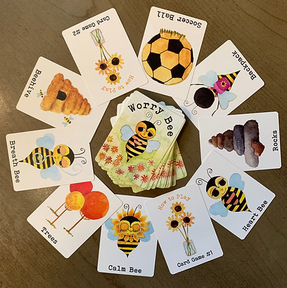 Worry Bee Card Deck Game
