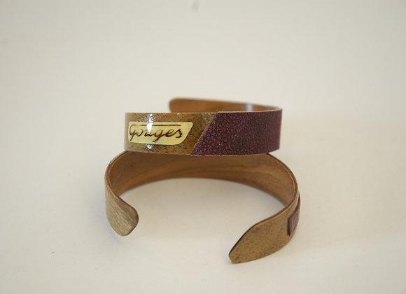 Bracelet en bois noyer