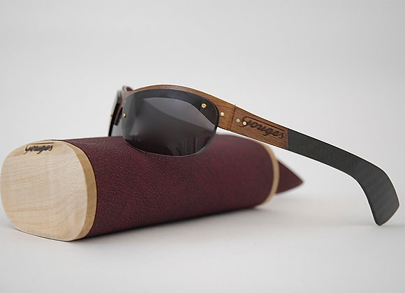 Lunettes en bois et carbone