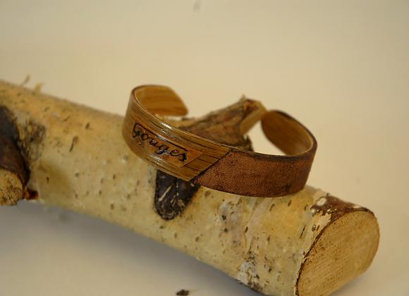 Bracelet Cuir & chêne