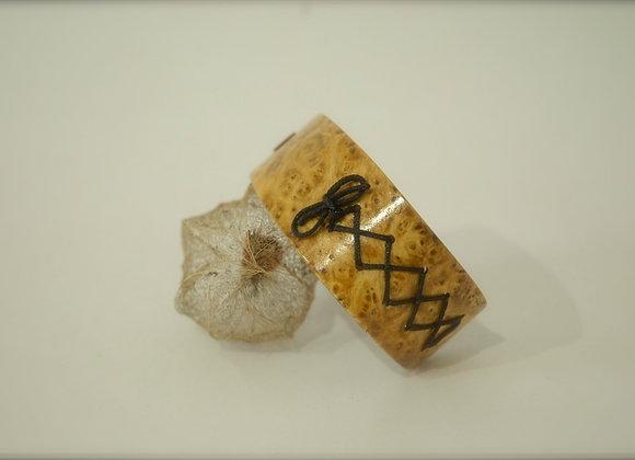Bracelet en bois loupe de myrthe
