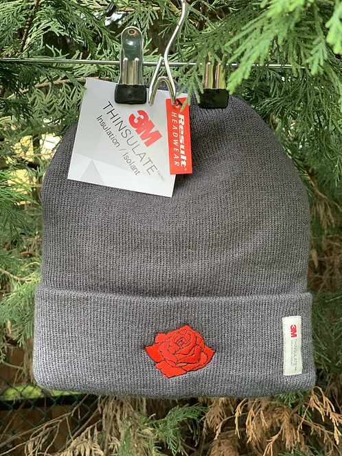 Rose Beanie Hat - One Size