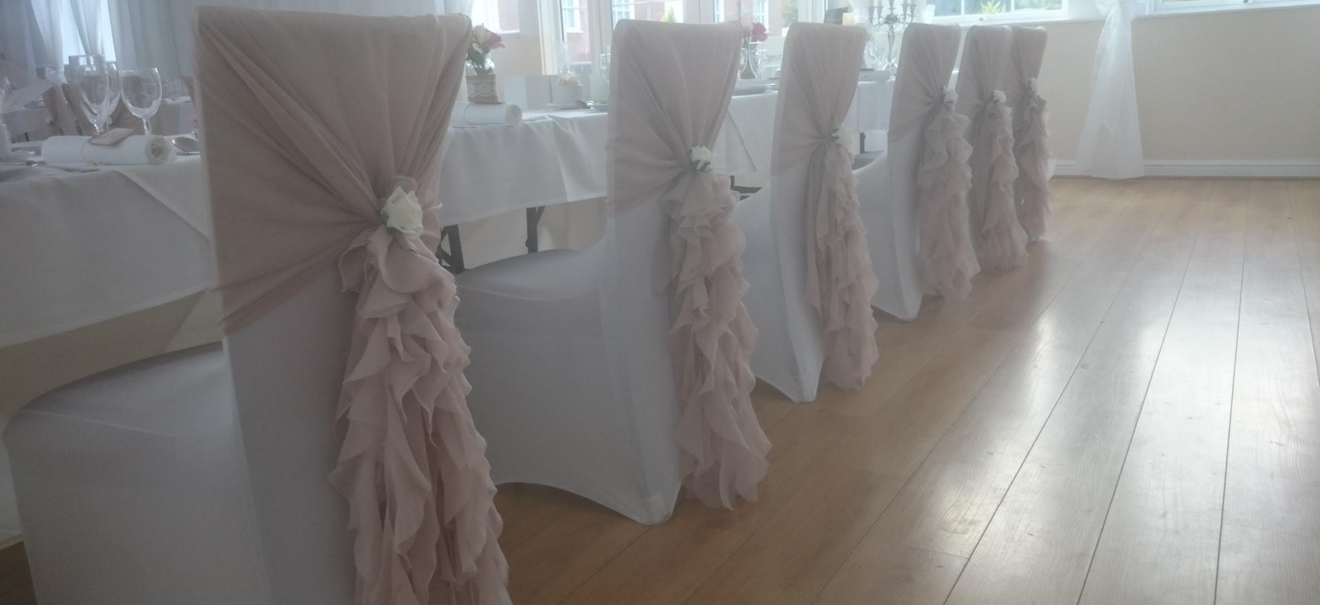 Dusky Antique pink rufflehood