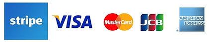 クレジットカードブランドロゴとSTRIPEロゴ