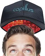 Capillusの低出力レーザー育毛器の着用模様