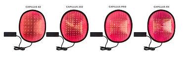 Capillus(カピラス)低出力レーザ―育毛器照射面内部
