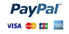 クレジットカードブランドとペイパルのロゴ