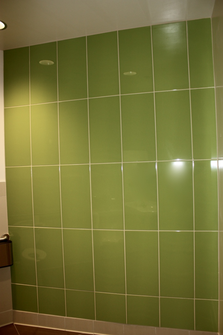 Green Bathroom tiling