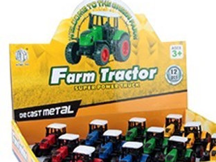 Farm Tractor Die Cast Metal