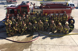 Training Burn Day with local FDs at Leander