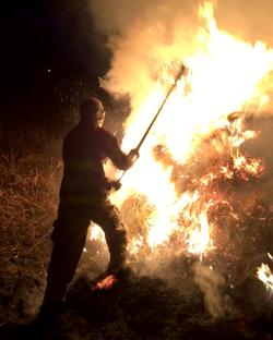 Outside Fire at Dusk - January 2017