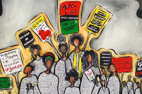 """""""Black Lives Will Always Matter"""" Signed 13 x 19 Print (Limited Edition)"""