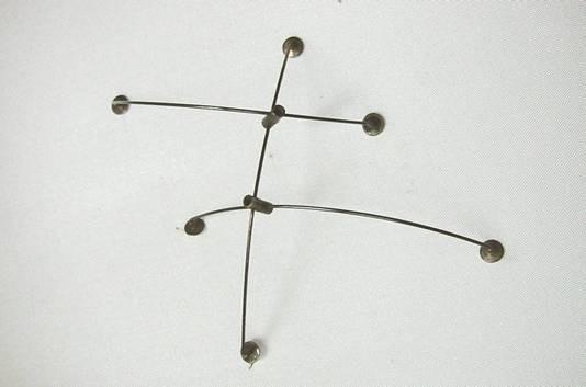 Brooch 1980 Silver, Stainless Steel