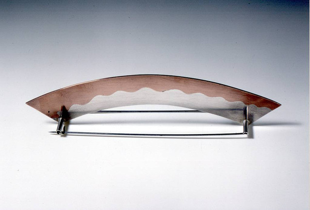 Brooch 1994 Silver, Copper, Stainless Steel