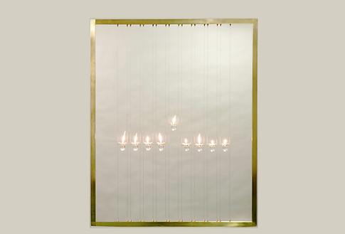 """Hanukkah Lamp, """"Proclaiming the (Hanukkah) Miracle"""", 2015"""