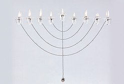 Hanukkah Lamp with magnets, 2004 S