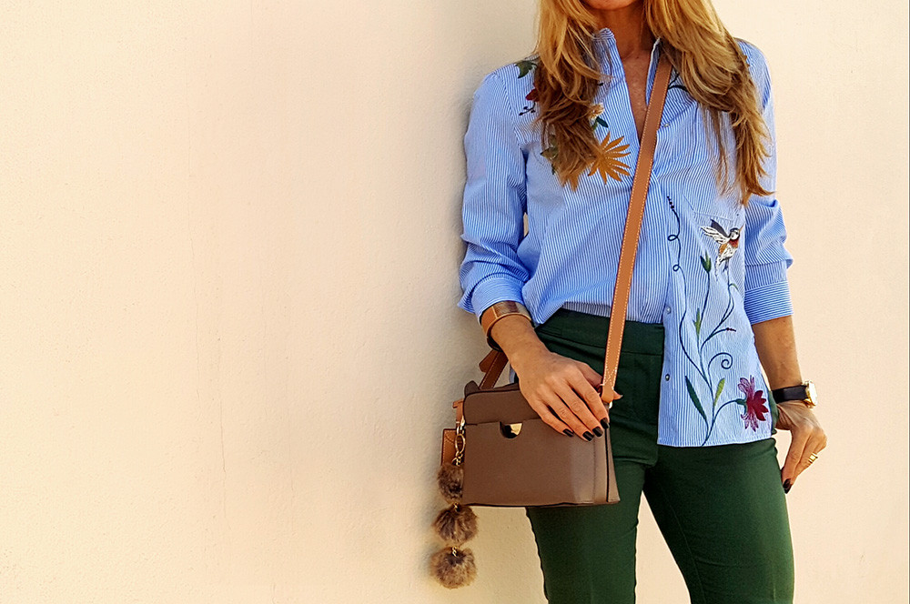Personal-Stylist-BH-Looks-feminino-camisa listrada bordada