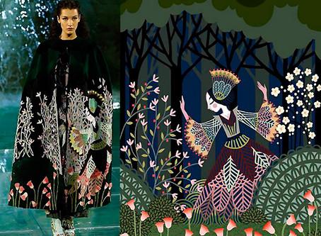 Ilustrações de Charlotte Gastaut nas passarelas da Fendi