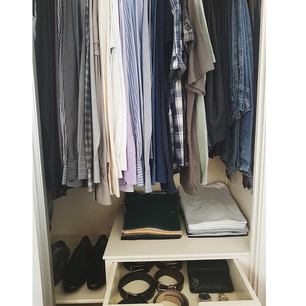 Organização de guarda-roupa masculino-consultoria de estilo