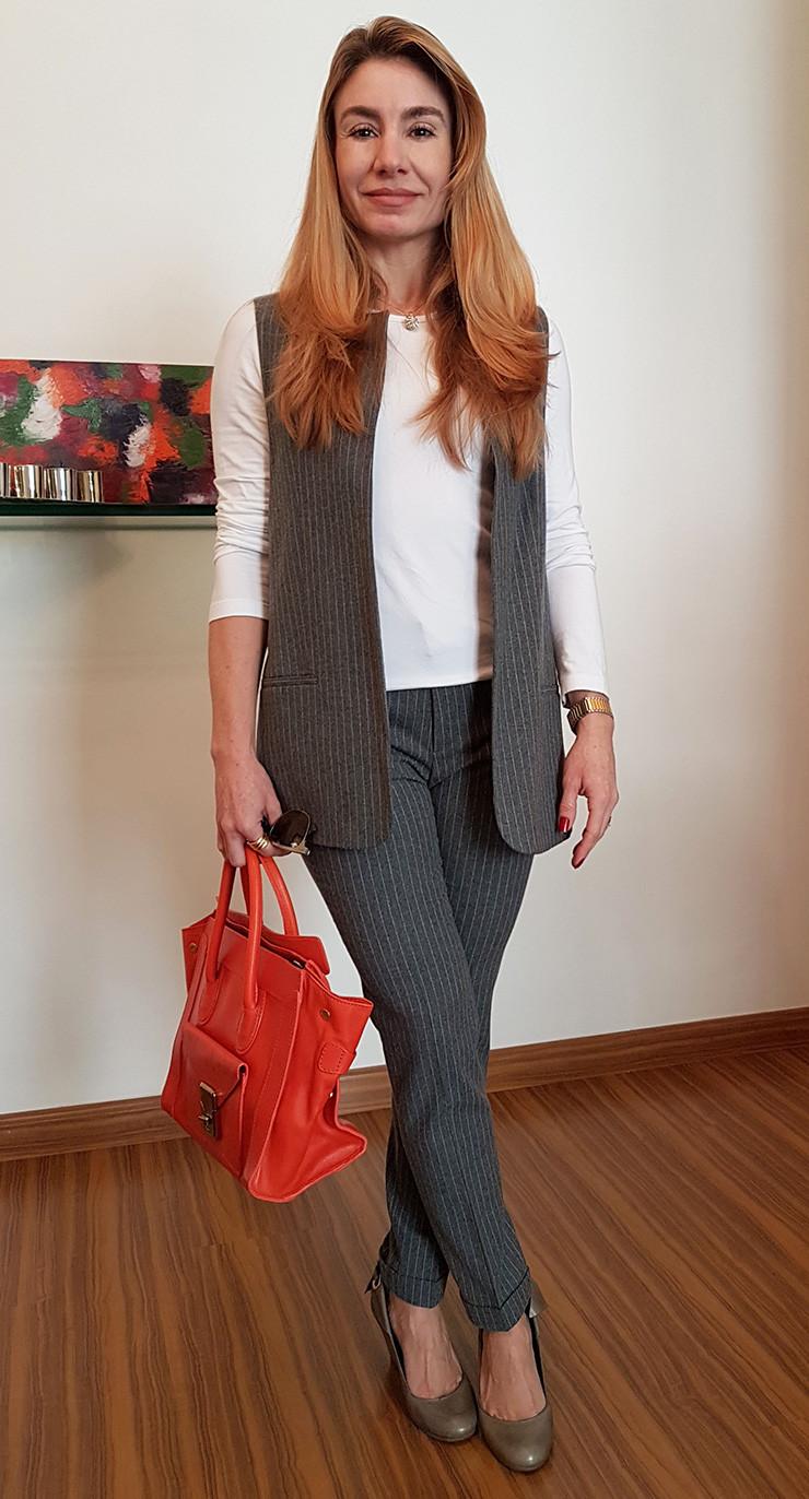 Look-maxi colete-alfaiataria-total print-personal stylist bh-consultoria imagem-consultoria estilo-dicas de moda